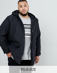 Read more about Only sons parka with fleece lined hood - black