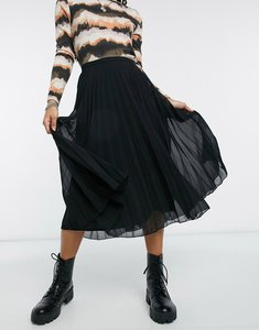Read more about Asos design pleated midi skirt - black