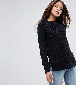 Read more about Asos design tall chunky jumper with crew neck - black