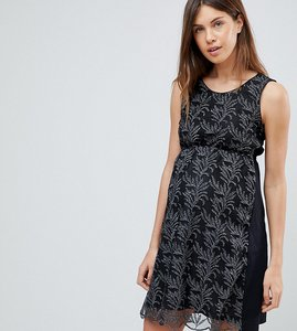 Read more about Mamalicious printed dress - blk wht print