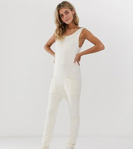 Read more about Stitch pieces relaxed jumpsuit - ecru