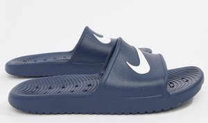 Read more about Nike kawa sliders in blue 832528-400 - blue