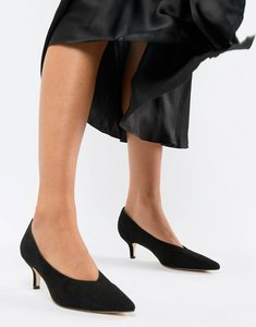 Read more about London rebel pointed kitten heels - black