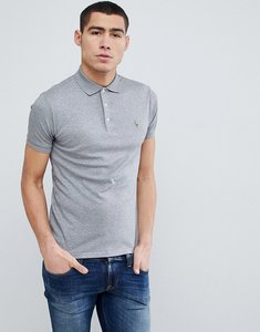 Read more about Polo ralph lauren slim fit pima jersey polo multi player in grey marl - steel heather