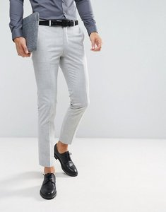 Read more about Farah skinny suit trousers in crosshatch - pale grey