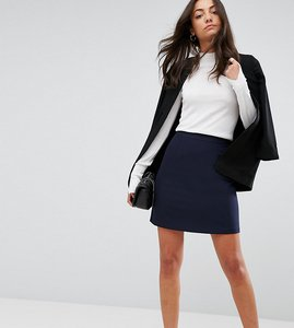 Read more about Asos tall tailored a-line mini skirt - navy