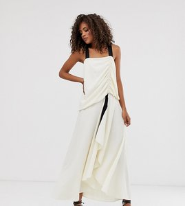 Read more about Asos design tall textured maxi dress with grosgrain straps