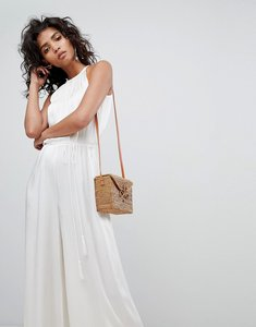 Read more about Ghost halterneck wideleg jumpsuit with belt - ivory