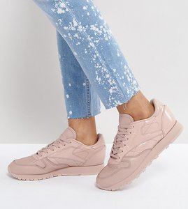 Read more about Reebok classic pellegrine leather trainers in light pink - pink