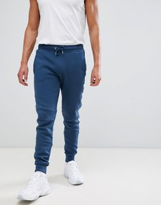 Read more about Nicce emboss skinny joggers in blue - blue