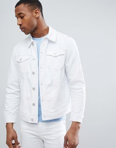 Read more about Bershka denim jacket in white - white