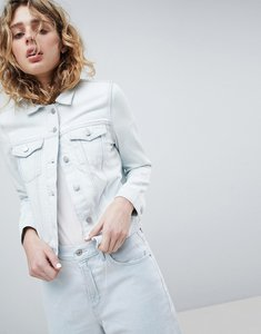 Read more about Weekday denim trucker jacket - bleach out