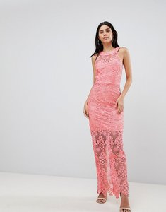 Read more about Paper dolls lace midi dress - coral
