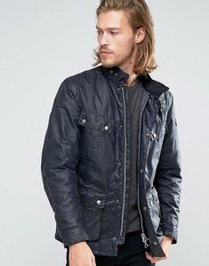 Read more about Barbour duke waxed jacket in navy - navy