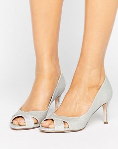 Read more about Asos sage mid heels - silver glitter