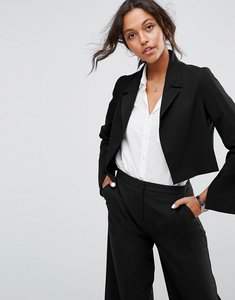 Read more about Asos mix match crop blazer - black