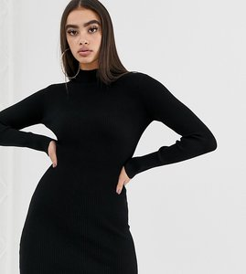 Read more about Missguided high neck bodycon dress in black