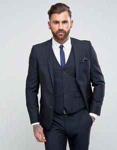 Read more about Harry brown slim fit plain suit jacket - navy