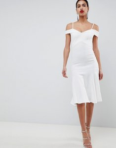 Read more about Club l bardot fit flare dress - white