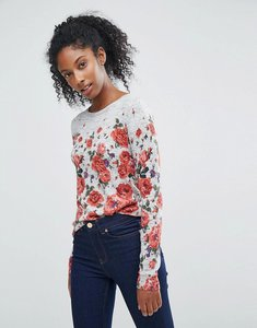 Read more about Oasis floral printed jumper - multi black