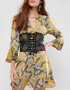 Read more about Asos mesh caged corset waist belt - black