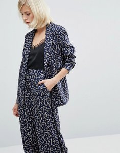 Read more about Fashion union printed blazer co-ord - blue floral