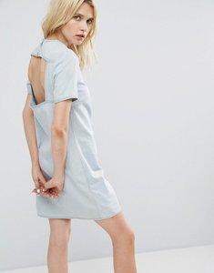 Read more about Cheap monday open back denim dress - pale blue