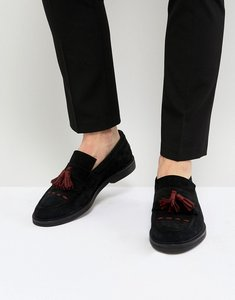 Read more about House of hounds dexie suede tassel loafers - black