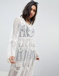 Read more about Missguided lace and crochet festival dress - white