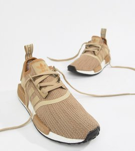 Read more about Adidas originals nmd r1 trainers in beige - beige