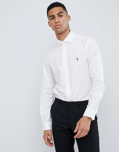 Read more about Polo ralph lauren slim fit luxury oxford shirt player logo estate collar in white - white