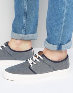 Read more about Jack jones turbo textile plimsolls - navy