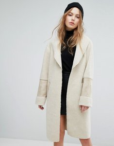 Read more about New look faux shearling teddy coat - cream