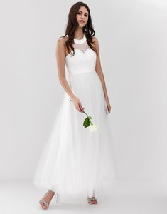 Read more about Y a s sweetheart tulle maxi wedding dress in white