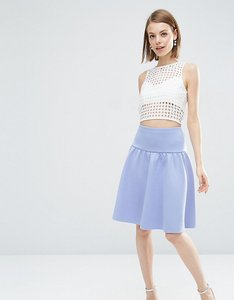 Read more about Asos petite prom skirt with pep hem - blue