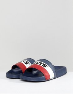 Read more about Levis june sliders in navy - navy blue