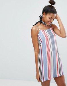 Read more about Monki multi stripe cami dress - stripe