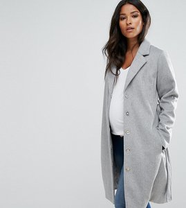 Read more about Mamalicious wool coat - grey