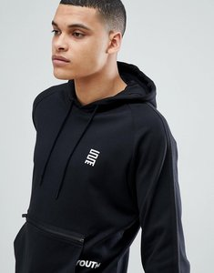 Read more about Jack jones core hoodie with pouch pocket - black