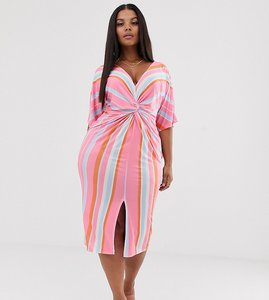861ee98033f8 missguided tie front cut out stripe shirt dress - Shop missguided ...