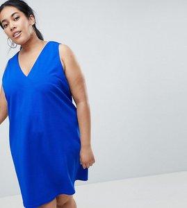 Read more about Ax paris plus v neck swing dress - blue