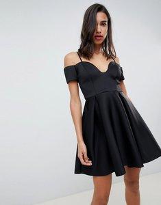Read more about Asos design u bar mini skater dress - black