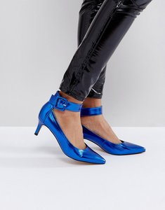 Read more about Asos solo kitten heels - blue metallic