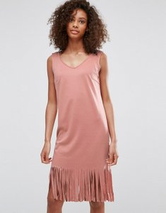 Read more about Vila fringe hem festival dress - rose dawn