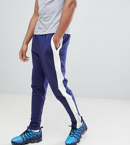 Read more about Sixth june skinny joggers in blue with side stripe exclusive to asos - blue