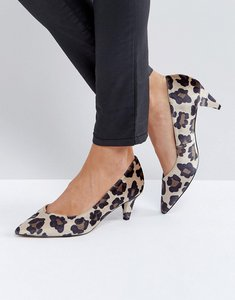 Read more about Asos salsa kitten heels - leopard