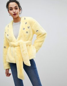 Read more about Asos faux fur jacket - yellow