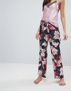 Read more about Boux avenue spring floral satin long pyjama pant - multi