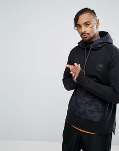 Read more about Timberland oversized hoodie nylon hood front pocket in black - black