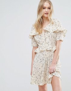 Read more about Influence frill detail tea dress - cream floral